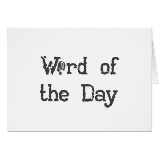 Word of the Day Podcast Notecards Card