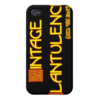 Word Play: Vintage Flatulence iPhone 4 Cases
