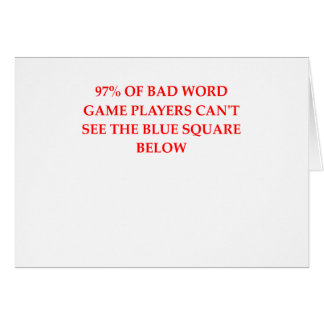 WORD.png Greeting Card