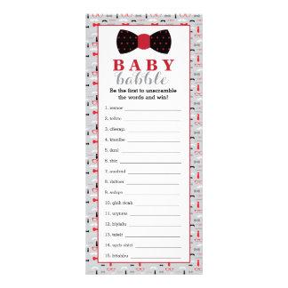 Word Scramble Game, Baby Shower Game, Little Man 10 Cm X 23 Cm Rack Card