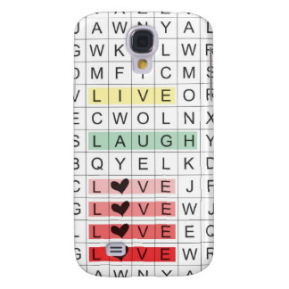 Word Search Love Galaxy S4 Case