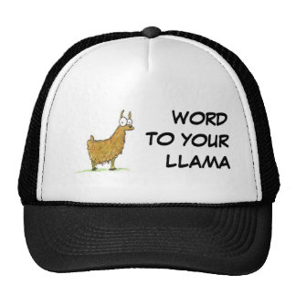 WORD TO YOUR LLAMA CAP