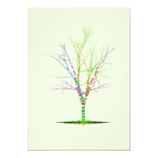 Word Tree Invitation, Dream Laugh Love Live 13 Cm X 18 Cm Invitation Card