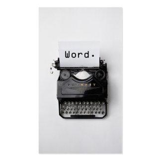 """Word."" Vintage Typewriter Professional Writer Pack Of Standard Business Cards"
