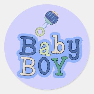 Words Baby Boy W/Rattle Fun Stickers