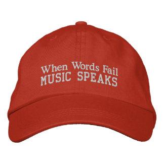 Words Fail Music Speaks Cap Embroidered Baseball Cap