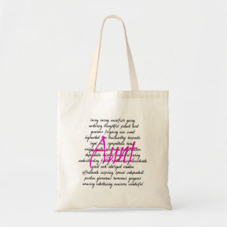 Words for Aunt Tote Bag