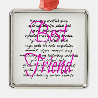 Words for Best Friend Christmas Ornament