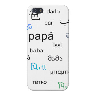 Words for dad in many different languages iPhone 5/5S cover