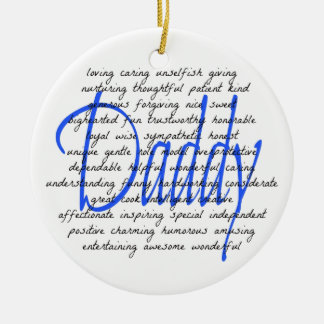 Words For Daddy Christmas Ornament