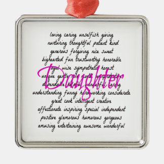 Words for Daughter Christmas Ornament