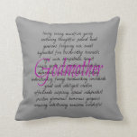 Words for Godmother Throw Pillows