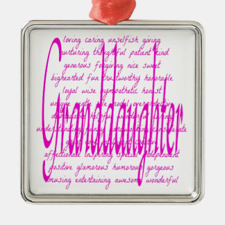 Words for Granddaughter Christmas Ornament