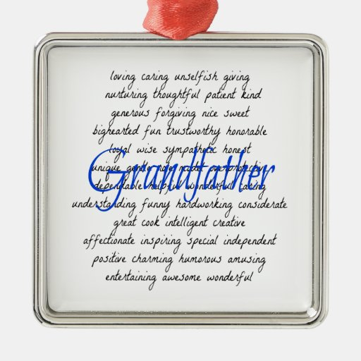 Words for Grandfather Ornament