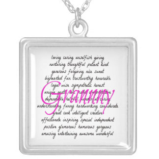 Words for Granny Silver Plated Necklace