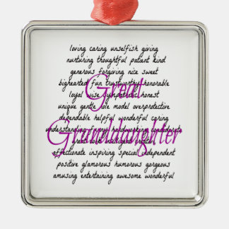 Words for Great Granddaughter Christmas Ornament