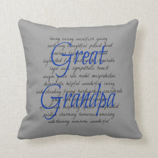 Words for Great Grandpa Cushion