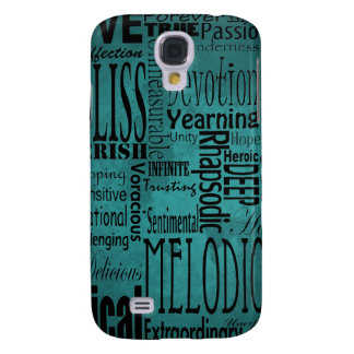 Words for Love Teal iPhone Case Galaxy S4 Cover