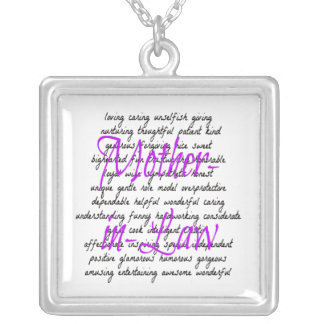 Words for Mother-in-Law Silver Plated Necklace