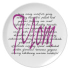 Words For Mum Plate