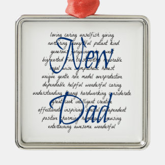 Words for New Dad Christmas Ornament