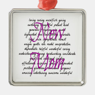 Words for New Mom Christmas Ornament
