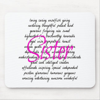 Words for Sister Mouse Mat