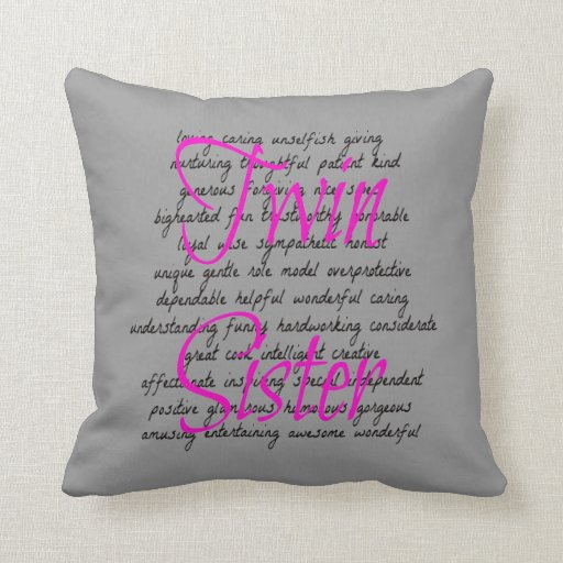 Words for Twin Sister Pillows
