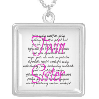 Words for Twin Sister Silver Plated Necklace