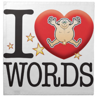 Words Love Man Napkin