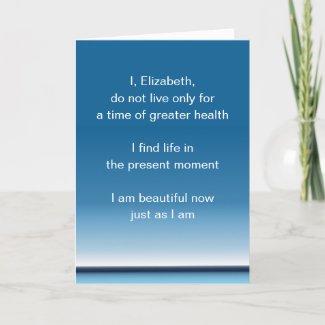 Words of encouragement get well card