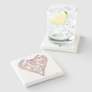Words of Heart Marble Stone Coaster
