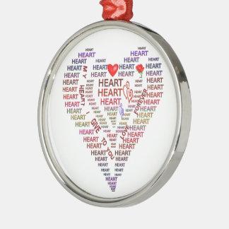Words of Heart Premium Round Ornament