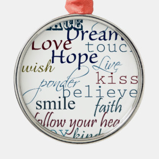 Words of Inspiration Christmas Ornament