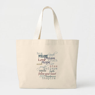 Words of Inspiration Large Tote Bag