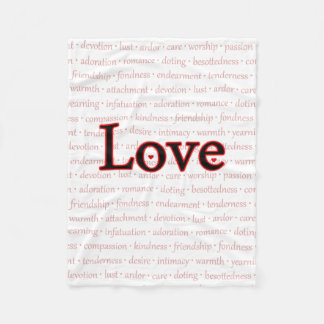 Words of Love Fleece Blanket