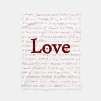 Words of Love Fleece Blanket