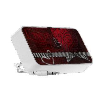 Words of Love Red Hearts Laptop Speaker