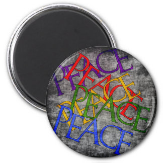 Words of Peace 6 Cm Round Magnet