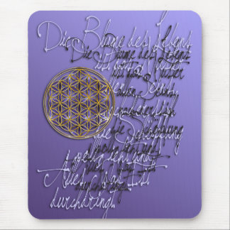 Words of the flower of the life mouse pad