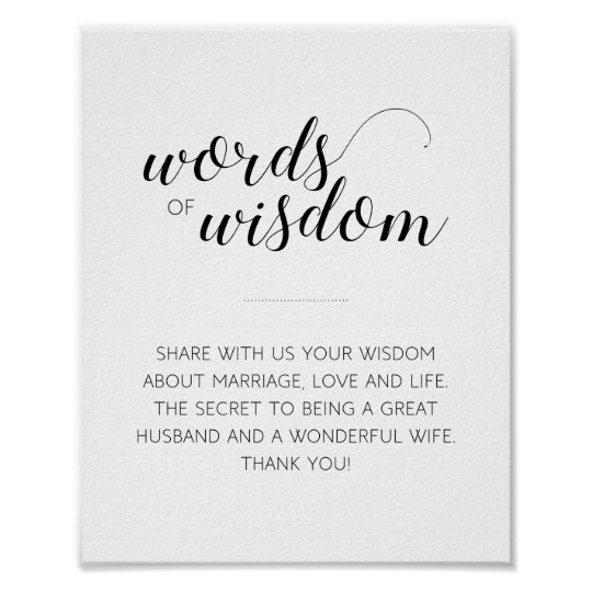 Words of Wisdom Advice Sign - Alejandra Poster