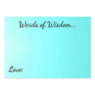 Words of Wisdom Aqua Cards Pack Of Chubby Business Cards