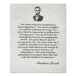 Words of Wisdom on Parchment=Abraham Lincoln Poster