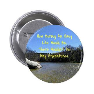 Words of Wisdom Over River Nature Landscape 6 Cm Round Badge