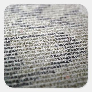 Words Square Sticker