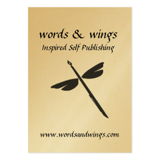 Words & Wings Abstract Dragonfly and Pen Business  Pack Of Chubby Business Cards