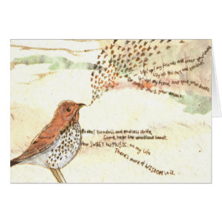 Wordsworth's woodland bird greetings card
