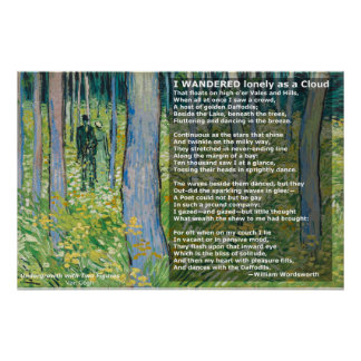 Wordworth's I Wandered Lonely as a Cloud/Daffodils Poster