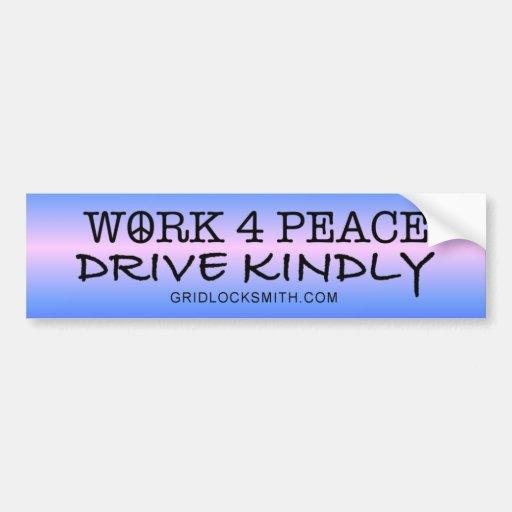 WORK4PEACE-DK BUMPER STICKER