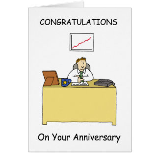 Work anniversary congratulations. card